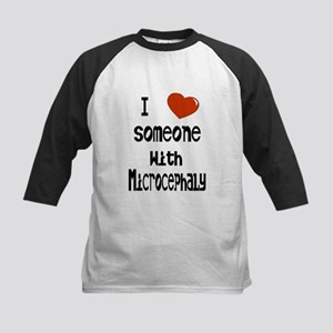 Luv someone with Microcephaly Kids Baseball Jersey