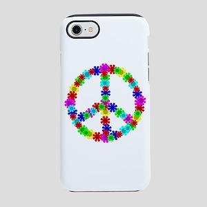 1960's Hippie Flowers Peace iPhone 8/7 Tough Case
