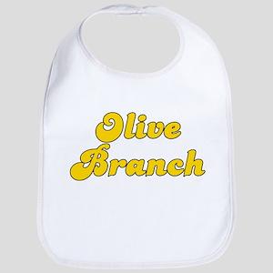 Retro Olive Branch (Gold) Bib
