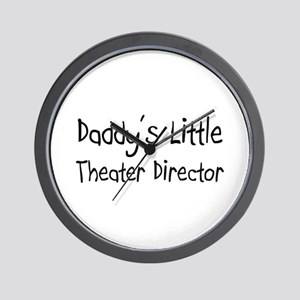 Daddy's Little Theater Director Wall Clock