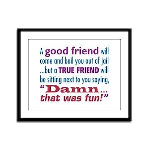 True Friend - Framed Panel Print