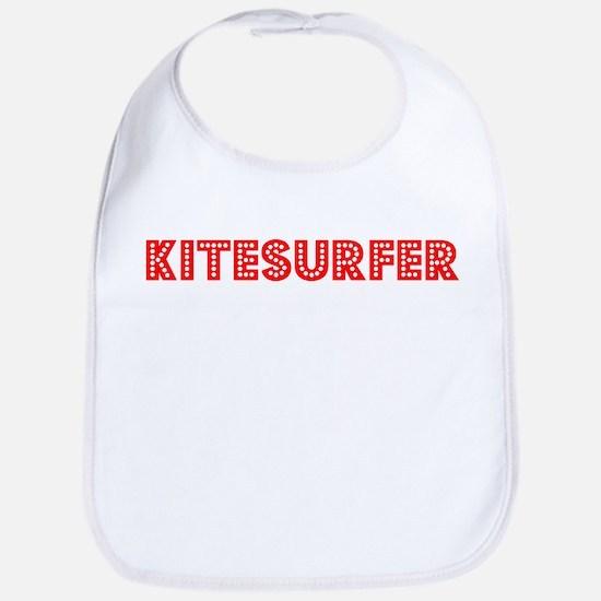 Retro Kitesurfer (Red) Bib