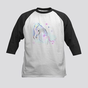 Colorful Horse2 Kids Baseball Jersey