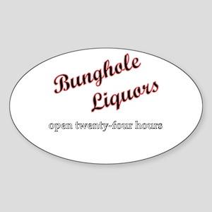 Bunghole Liquors Oval Sticker