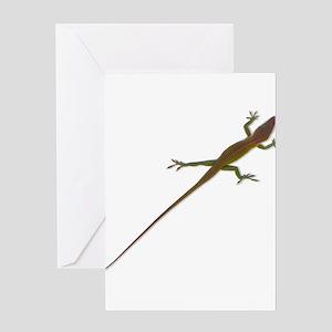 Crawling Lizard Greeting Cards