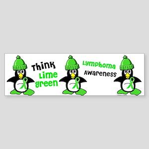 Winter Penguin 2 (Lime) Bumper Sticker