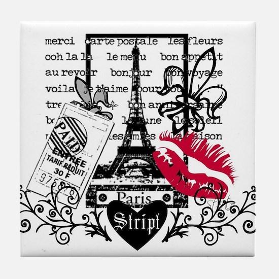 Paris Postcard Tile Coaster