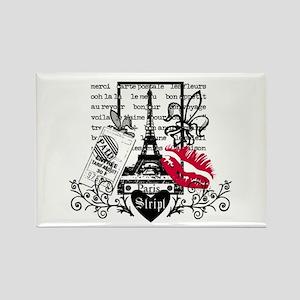 Paris Postcard Rectangle Magnet