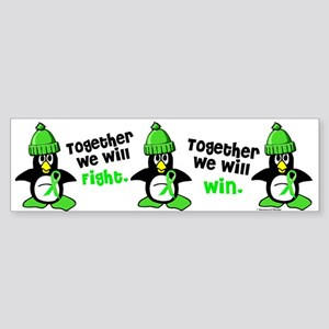 Winter Penguin 5 (Lime) Bumper Sticker