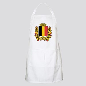 Stylized Brussels Crest BBQ Apron