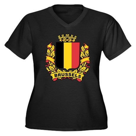 Stylized Brussels Crest Women's Plus Size V-Neck D