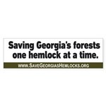 Save Georgia's Hemlocks Bumper Sticker