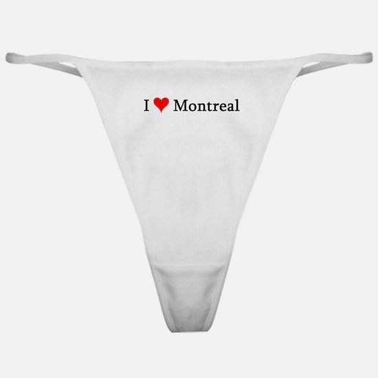 I Love Montreal Classic Thong