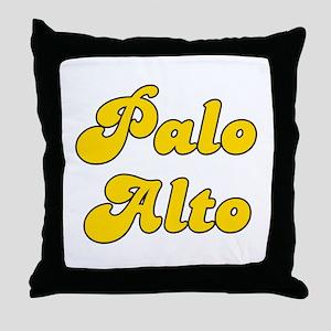 Retro Palo Alto (Gold) Throw Pillow