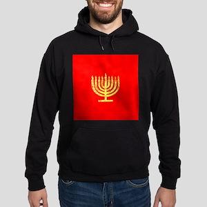 Red Glowing Menorah Chanukah Designer Sweatshirt