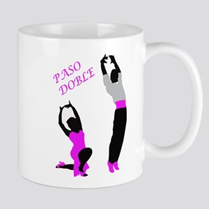 Paso Doble Dancers in Pink Mugs