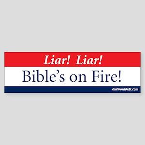Bumper Sticker:Bible's on Fire
