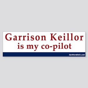 Bumper Sticker:Keillor copilot