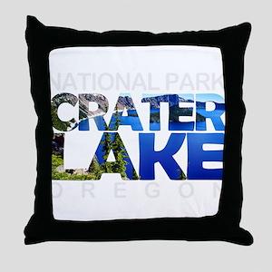 Crater Lake - Oregon Throw Pillow