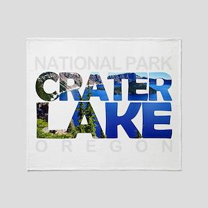 Crater Lake - Oregon Throw Blanket