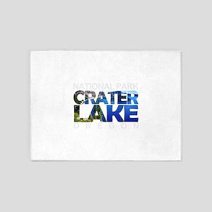 Crater Lake - Oregon 5'x7'Area Rug