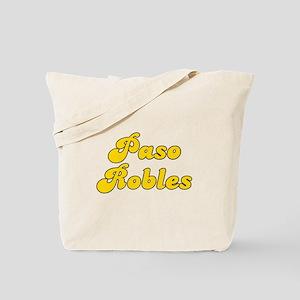 Retro Paso Robles (Gold) Tote Bag