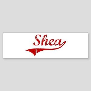 Shea (red vintage) Bumper Sticker