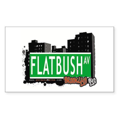 FLATBUSH AV, BROOKLYN, NYC Rectangle Sticker