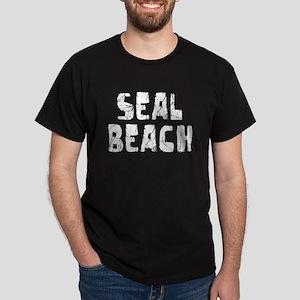 Seal Beach Faded (Silver) Dark T-Shirt