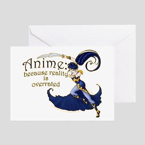 Fun Anime Fan Design Greeting Card