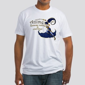 Fun Anime Fan Design Fitted T-Shirt