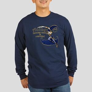 Fun Anime Fan Design Long Sleeve Dark T-Shirt