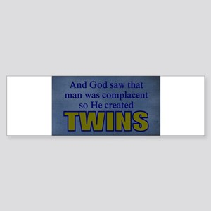 funny twins Bumper Sticker