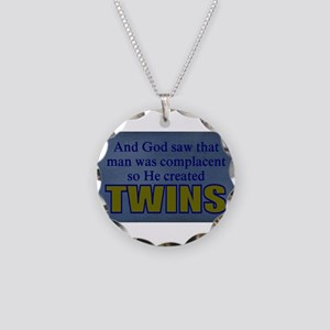 funny twins Necklace Circle Charm