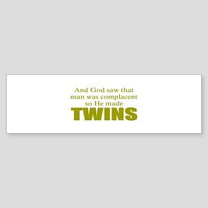 Twins Bumper Sticker