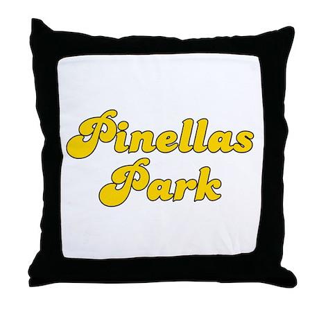 Retro Pinellas Park (Gold) Throw Pillow