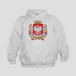 Stylish Poland Crest Kids Hoodie