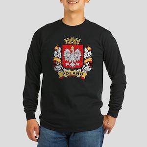 Stylish Poland Crest Long Sleeve Dark T-Shirt