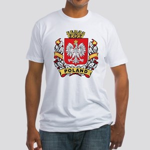 Stylish Poland Crest Fitted T-Shirt