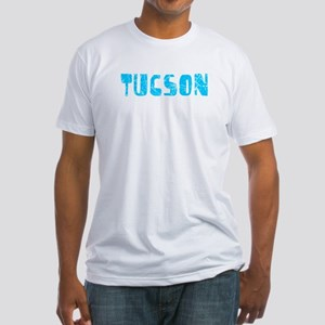 Tucson Faded (Blue) Fitted T-Shirt