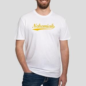 Vintage Nehemiah (Orange) Fitted T-Shirt