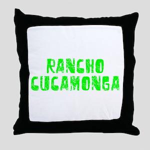 Rancho Cucam.. Faded (Green) Throw Pillow