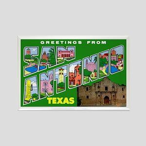 San Antonio Texas Greetings Rectangle Magnet