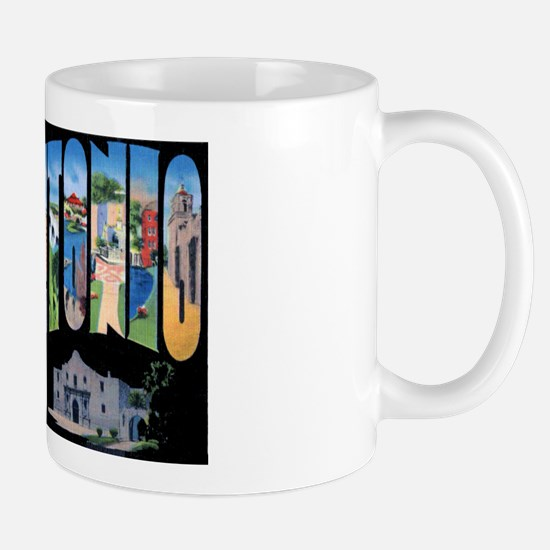 San Antonio Texas Greetings Mug