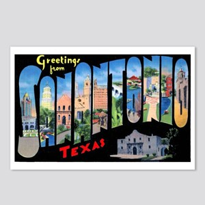 San Antonio Texas Greetings Postcards (Package of