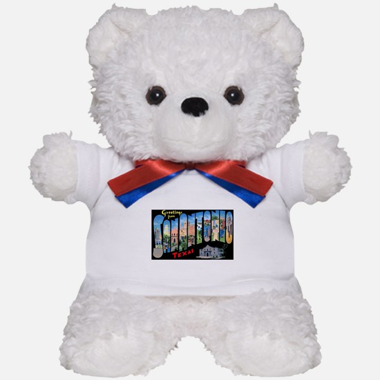 San Antonio Texas Greetings Teddy Bear