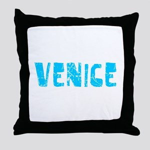 Venice Faded (Blue) Throw Pillow