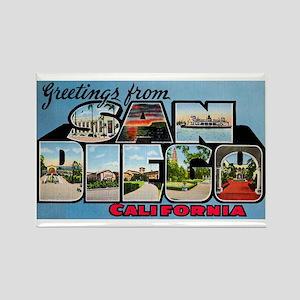 San Diego California Greetings Rectangle Magnet