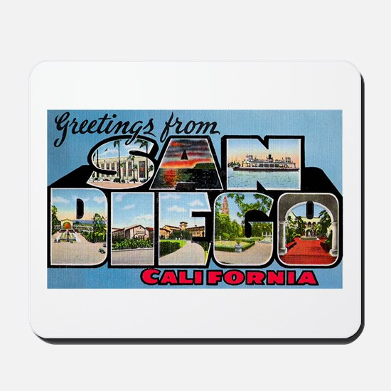 San Diego California Greetings Mousepad