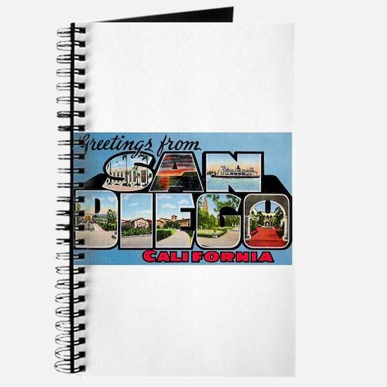 San Diego California Greetings Journal